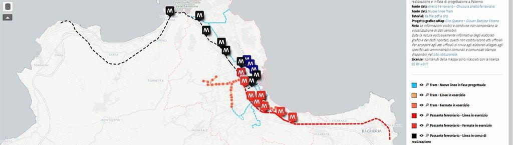 Palermo Mappa del ferro