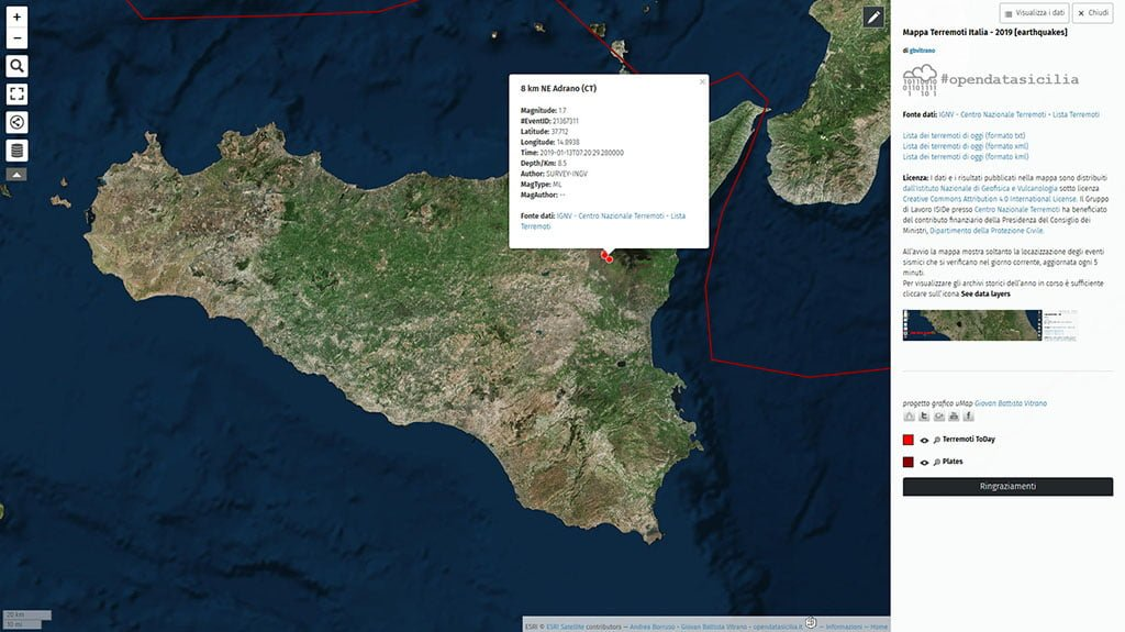 Terremoti in Italia nel 2019 (earthquakes today)