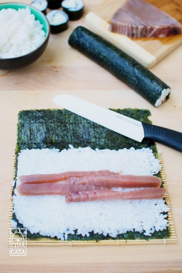 Sushi fatto in casa hosomaki e nigiri  CoseFatteInCasait