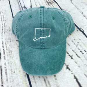 Connecticut baseball cap, Connecticut baseball hat, Connecticut hat, Connecticut cap, State of Connecticut Personalized cap, Custom baseball cap