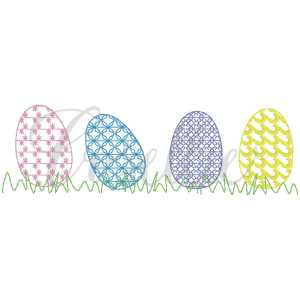 Easter eggs fill embroidery design, Vintage Easter, Easter eggs, Easter applique, Easter, Spring, Easter, Vintage stitch embroidery design, Applique, Machine embroidery design, Blanket stitch, Beanstitch, Vintage