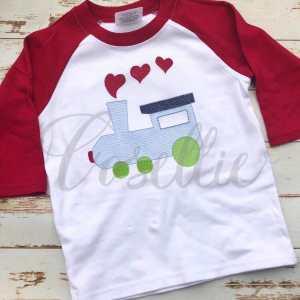 Valentines train embroidery design, Heart train, Valentines boy, Vintage stitch embroidery design, Applique, Machine embroidery design, Blanket stitch, Beanstitch, Vintage