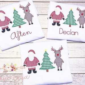 Christmas embroidery design, Santa, Reindeer, Christmas tree, Vintage Christmas, Vintage stitch embroidery design, Applique, Machine embroidery design, Blanket stitch, Beanstitch, Vintage