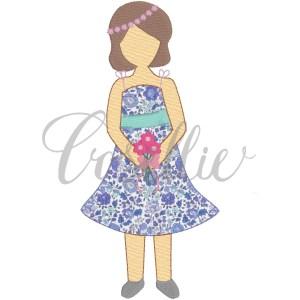 Flower girl embroidery design, Flower girl, Wedding appliqué, Vintage wedding, Vintage stitch embroidery design, Applique, Machine embroidery design, Blanket stitch, Beanstitch, Vintage