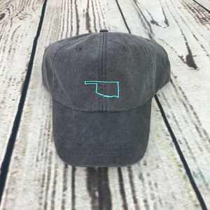 Oklahoma baseball cap, Oklahoma baseball hat, Oklahoma hat, Oklahoma cap, State of Oklahoma Personalized cap, Custom baseball cap
