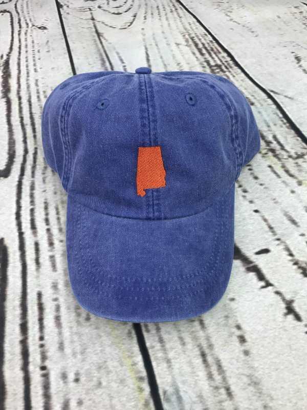Alabama baseball cap, Alabama baseball hat, Alabama hat, Alabama cap, State of Alabama, Personalized cap, Custom baseball cap