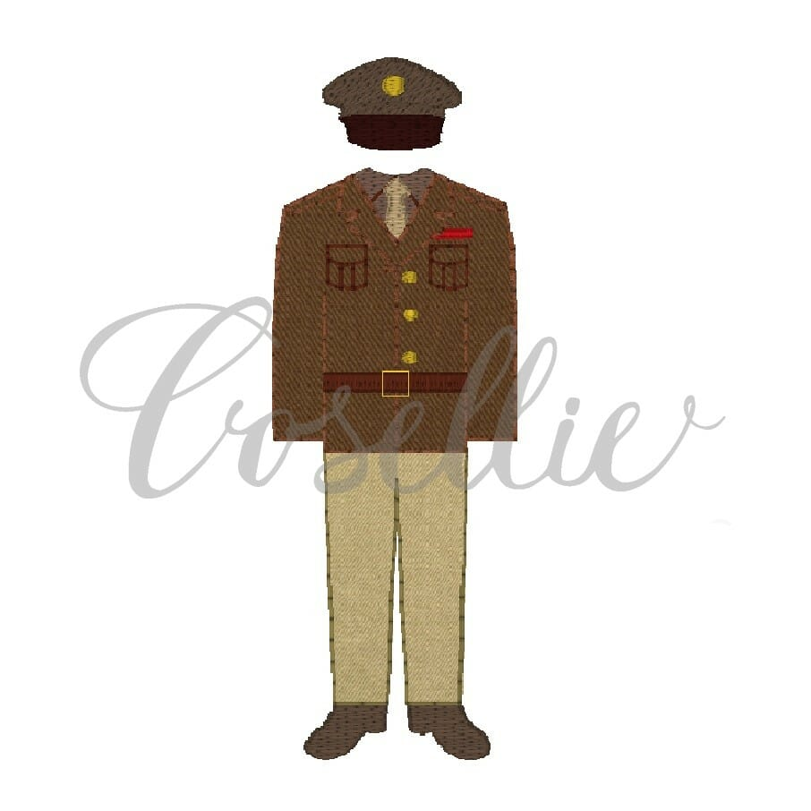 Army Uniform Embroidery Design Embroidery Design Cosellie