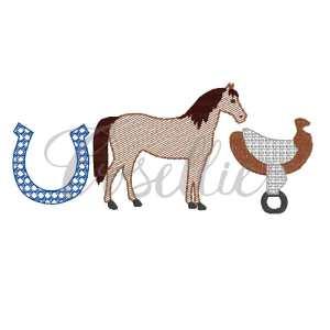 Horse trio quick stitch embroidery design, Kentucky derby, Horse embroidery design, Farm, Horse saddle, Horseshoe, Vintage stitch embroidery design, Applique, Machine embroidery design, Blanket stitch, Beanstitch, Vintage