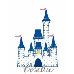 Princess castle embroidery design, Castle applique, Princess castle, Cinderella's castle, Cinderella, Vintage stitch embroidery design, Applique, Machine embroidery design, Blanket stitch, Beanstitch, Vintage