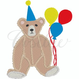 Teddy birthday fill embroidery design, Birthday bear, Birthday Teddy bear, Boy birthday, Girl birthday, Bear, Teddy bear embroidery design, Vintage bear, Classic teddy bear, Boy, Girl, Vintage stitch embroidery design, Applique, Machine embroidery design, Blanket stitch, Beanstitch, Vintage, Classic