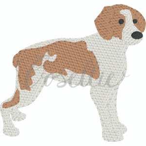 Brittany embroidery design, Brittany Spaniel, Spaniel, Sketch dog, Sketch beagle, Vintage beagle, Mini beagle, Mini dog, Dog, Puppy, Vintage stitch embroidery design, Applique, Machine embroidery design, Blanket stitch, Beanstitch, Vintage, Classic