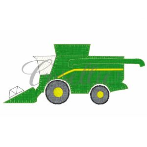 Combine embroidery design, Farming embroidery design, Farm equipment, Tractor, Harvester, Vintage stitch embroidery design, Applique, Machine embroidery design, Blanket stitch, Beanstitch, Vintage