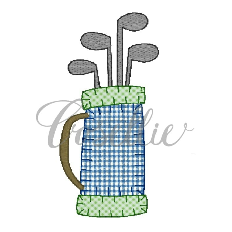 Golf Bag Embroidery Design Golf Embroidery Design Cosellie