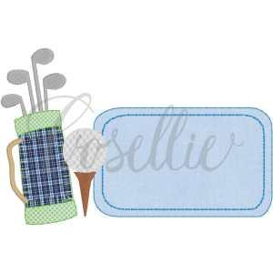 Golf tag embroidery design, Golf tag, Golf embroidery design, Golf, Golf clubs, Golf ball, Golf green, Vintage stitch embroidery design, Applique, Machine embroidery design, Blanket stitch, Beanstitch, Vintage
