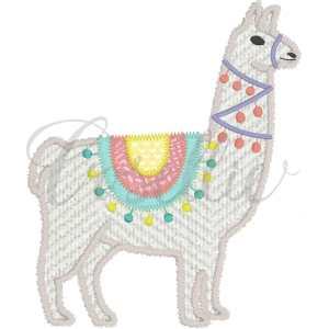 Llama applique embroidery design, Fiesta, Llama, Llama birthday party, Birthday, Party, Summer, Vintage stitch embroidery design, Applique, Machine embroidery design, Blanket stitch, Beanstitch, Vintage