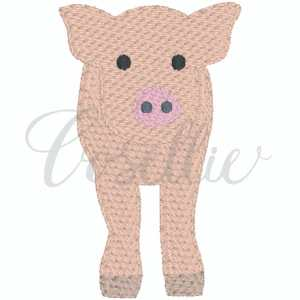 Mini pig embroidery design, Mini pig, Pig, Farm animals, Farm, Barn, Chicken, Cow, Dairy cow, Milk cow, Sheep, Goat, Pig, Horse, Vintage, Build your own, Vintage stitch embroidery design, Applique, Machine embroidery design, Blanket stitch, Beanstitch, Vintage, Classic, Sketch