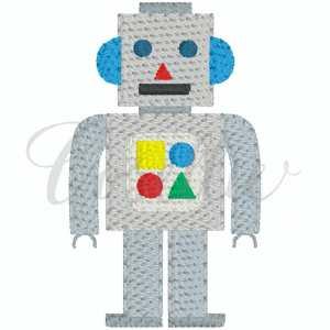 Mini robot embroidery design, Robot, Mini robot, Vintage toy, Mini toy, Toy, Vintage stitch embroidery design, Applique, Machine embroidery design, Blanket stitch, Beanstitch, Vintage, Classic, Sketch