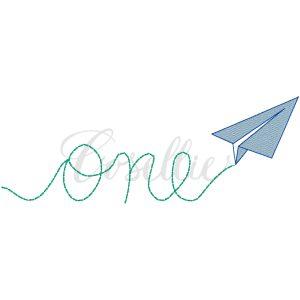 One paper airplane embroidery design, One airplane, Vintage birthday, Plane, Paper airplane, Airplane, Boy, Birthday, Vintage stitch embroidery design, Applique, Machine embroidery design, Blanket stitch, Beanstitch, Vintage
