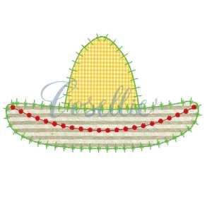 Sombrero embroidery design, Sombrero applique embroidery design, Maracas, Pinata, Mexico, Party, Vintage stitch embroidery design, Applique, Machine embroidery design, Blanket stitch, Beanstitch, Vintage