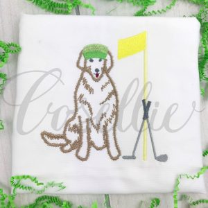 Golf dog embroidery design, Golf clubs, Golf visor, Lab, Golf embroidery design, Golf, Golf course, Golf ball, Golf green, Vintage stitch embroidery design, Applique, Machine embroidery design, Blanket stitch, Beanstitch, Vintage