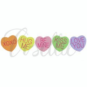 Valentine heart candies embroidery design, candy, candies, Valentines hearts embroidery design, Valentines embroidery design, heart candies, Heart, Vintage stitch embroidery design, Applique, Machine embroidery design, Blanket stitch, Beanstitch, Vintage, Classic