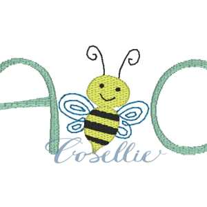 A bee C embroidery design, Bee, Back to school, ABC, Vintage stitch embroidery design, Applique, Machine embroidery design, Blanket stitch, Beanstitch, Vintage