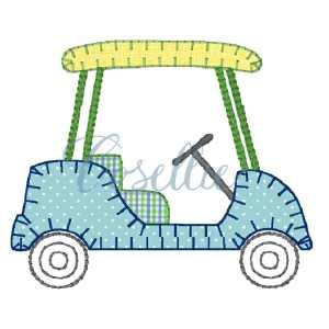 Golf cart embroidery design, Golf embroidery design, Golf, Golf clubs, Vintage stitch embroidery design, Applique, Machine embroidery design, Blanket stitch, Beanstitch, Vintage