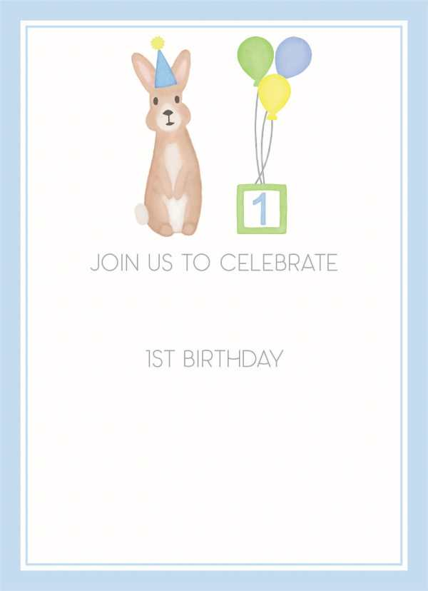 Birthday bunny blue invitation, First birthday, second birthday, third birthday, fourth birthday, fifth birthday, Birthday invitation, Bunny invitation, Editable invitation, Print from home invitation, DIY invitation, Invitation template