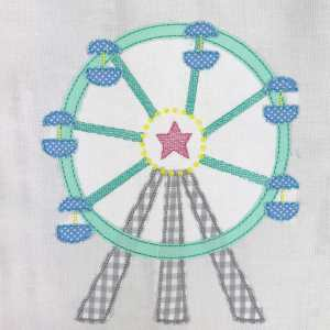 Ferris wheel embroidery design, Carnival, Ferris wheel, Carousel, Baby, Vintage stitch embroidery design, Applique, Machine embroidery design, Blanket stitch, Beanstitch, Vintage