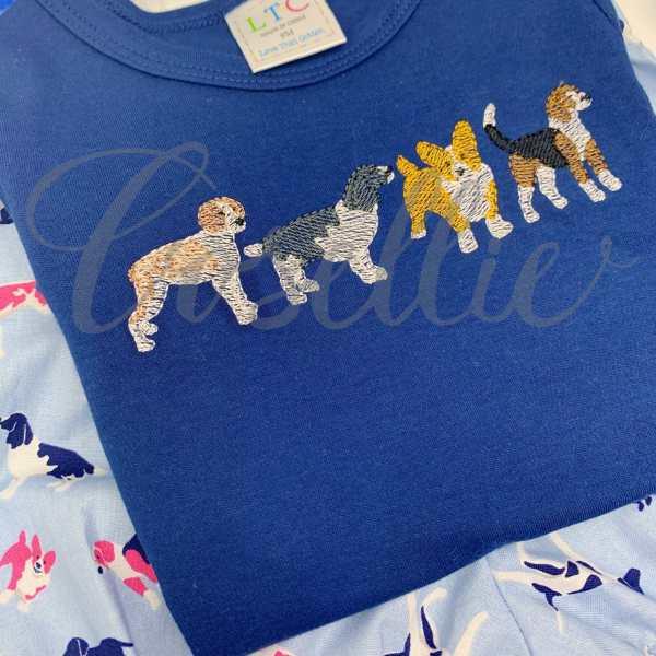 Springer Spaniel embroidery design, Brittany embroidery design, Corgi embroidery design, Beagle embroidery design, Springer Spaniel, Corgi, Brittany Spaniel, Spaniel, Sketch dog, Sketch beagle, Vintage beagle, Mini beagle, Mini dog, Dog, Puppy, Vintage stitch embroidery design, Applique, Machine embroidery design, Blanket stitch, Beanstitch, Vintage, Classic