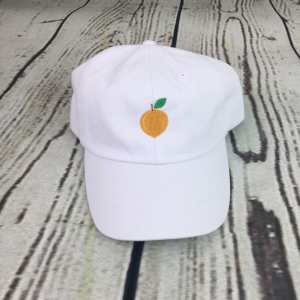Peach baseball cap, Peach baseball hat, Peach hat, Peach cap, Personalized cap, Custom baseball cap, Beach baseball cap, Summer baseball cap, Spring break