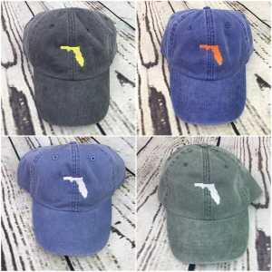 Florida baseball cap, Florida baseball hat, Florida hat, Florida cap, State of Florida, Personalized cap, Custom baseball cap