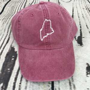 Maine baseball cap, Maine baseball hat, Maine hat, Maine cap, State of Maine, Personalized cap, Custom baseball cap