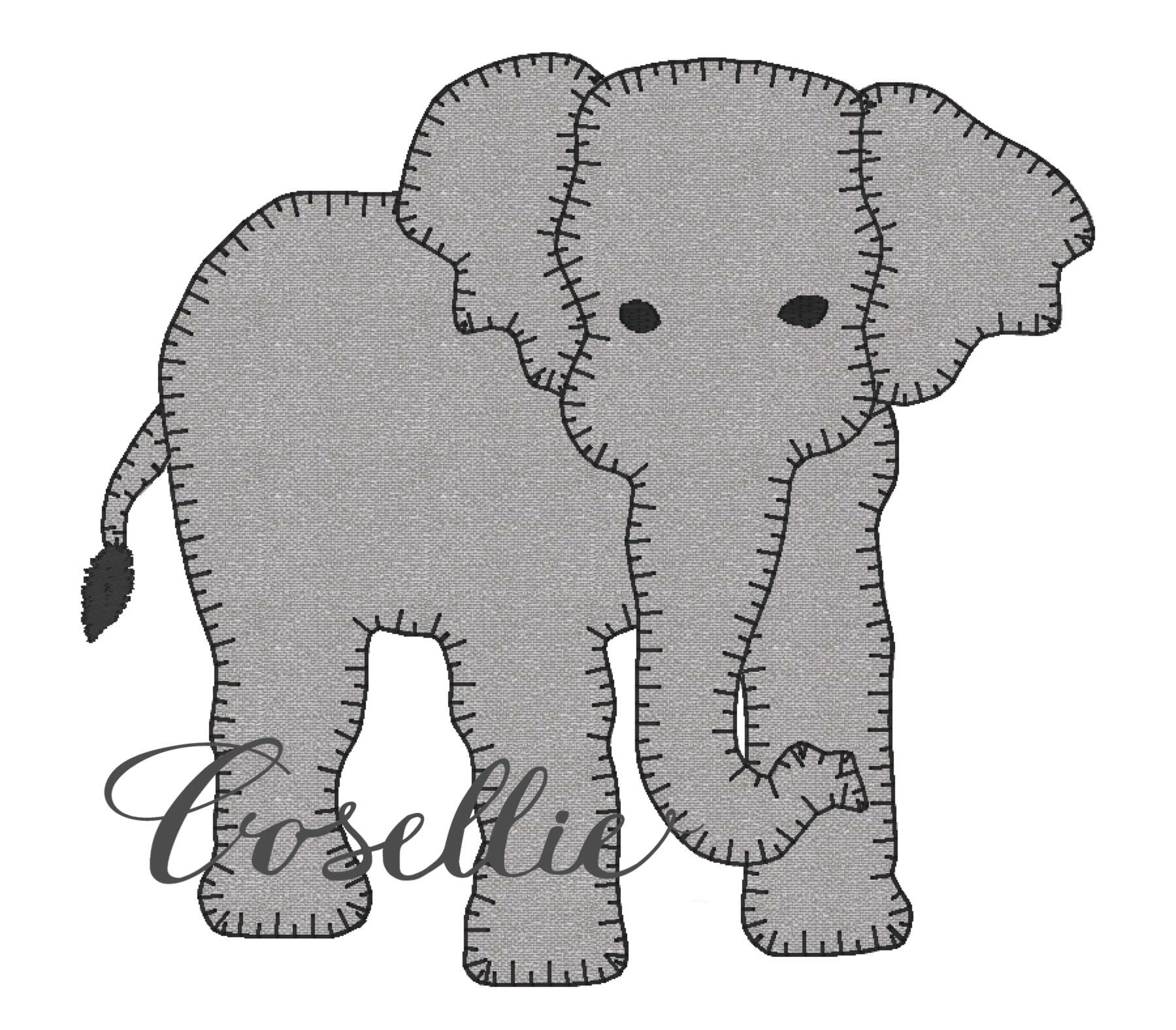 Elephant Embroidery Designs Gallery - handicraft ideas home decorating