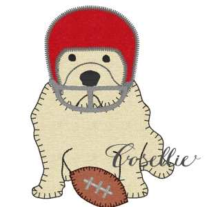 Bulldog football helmet embroidery design 2, Football, Bulldog, Mississippi state, Georgia, Vintage stitch embroidery design, Applique, Machine embroidery design, Blanket stitch, Beanstitch, Vintage