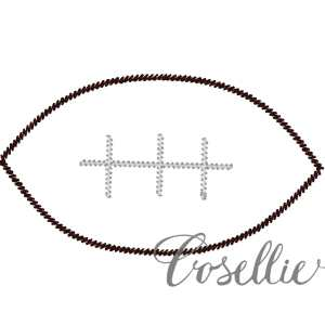 Football embroidery design, Football applique, Vintage stitch embroidery design, Applique, Machine embroidery design, Blanket stitch, Beanstitch, Vintage