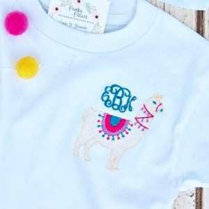 Llama fill embroidery design, Fiesta, Llama, Llama birthday party, Birthday, Party, Summer, Vintage stitch embroidery design, Applique, Machine embroidery design, Blanket stitch, Beanstitch, Vintage