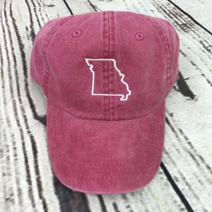 Missouri baseball cap, Missouri baseball hat, Missouri hat, Missouri cap, State of Missouri, Personalized cap, Custom baseball cap