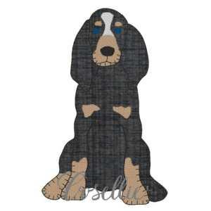 Hound dog embroidery design, Dog, Smokey, Tennessee, Football, Coonhound, Puppy, Vintage stitch embroidery design, Applique, Machine embroidery design, Blanket stitch, Beanstitch, Vintage