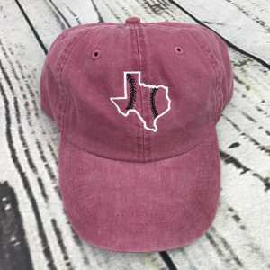 Texas baseball seams cap, Texas baseball cap, Texas baseball hat, Texas hat, Texas cap, State of Texas, Personalized cap, Custom baseball cap