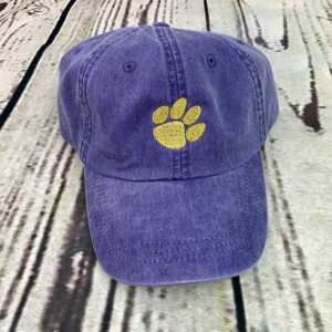 Tiger paw baseball cap, Tiger paw baseball hat, Tiger paw hat, Tiger paw cap, Personalized cap, Custom baseball cap, Clemson baseball cap, LSU baseball cap, Auburn baseball cap, Paw print