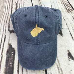 West Virginia baseball cap, West Virginia baseball hat, West Virginia hat, West Virginia cap, State of West Virginia, Personalized cap, Custom baseball cap