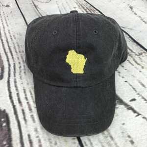 Wisconsin baseball cap, Wisconsin baseball hat, Wisconsin hat, Wisconsin cap, State of Wisconsin, Personalized cap, Custom baseball cap