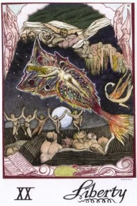 The Liberty card from the William Blake tarot.