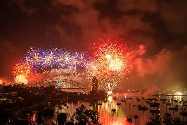 New Year's fireworks in Sydney, Australia.
