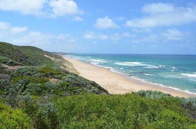 Victoria coastline. Day trips from Melbourne.
