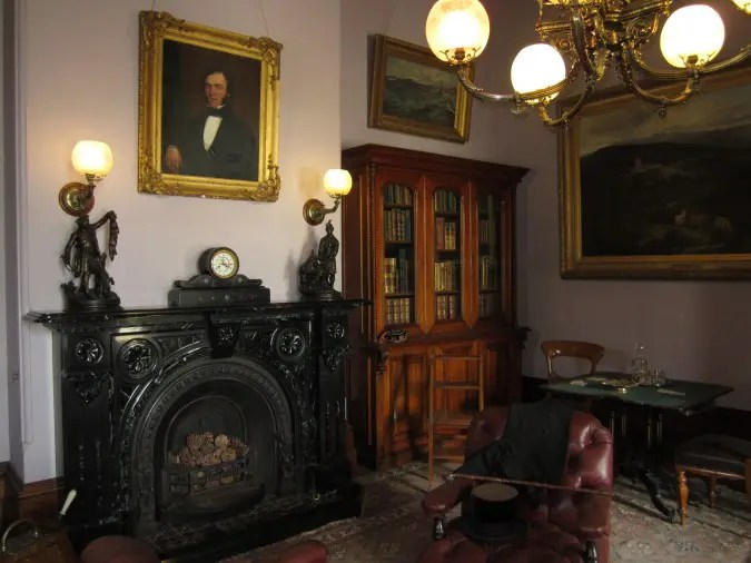 The library of Werribee Mansion.