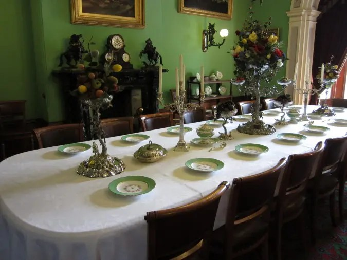 The dining room of Werribee Mansion.
