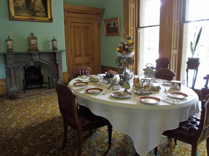 The breakfast room of Werribee Mansion.