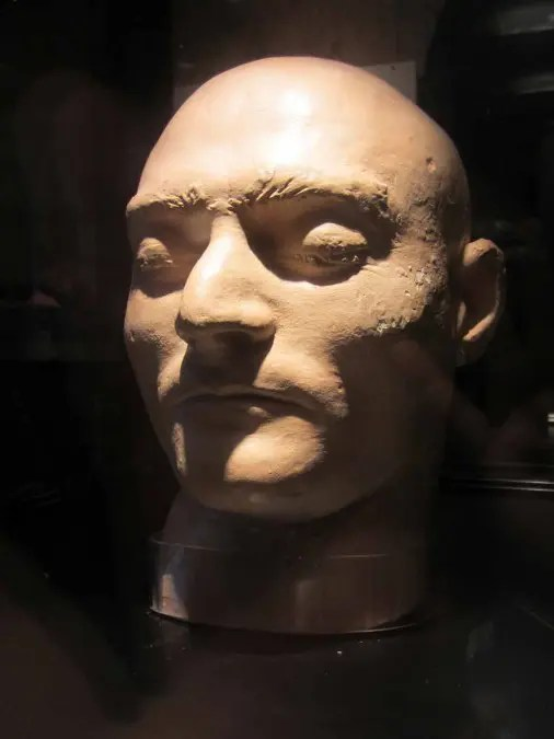 The death mask of the outlaw Ned Kelly.